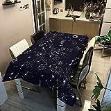YATING Tree Serie Tischdecke wasserdicht Polyester gedruckt rechteckige Tischdecke Tischdecke Tischdecke ZB2029-14 100x140cm für Küche, Restaurant, Hof, Café, Party oder Picknick