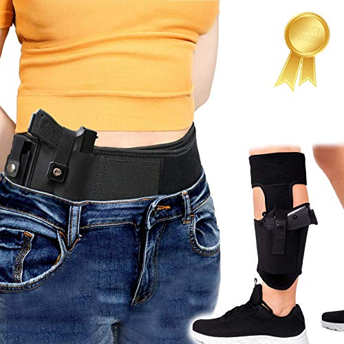 Ultimate Belly Band Holster+Ankle Holster, Universal Gun...