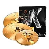 Zildjian K Custom Hybrid Cymbal Pack, 14-1/4' pair, 17', 21' (KCH390)