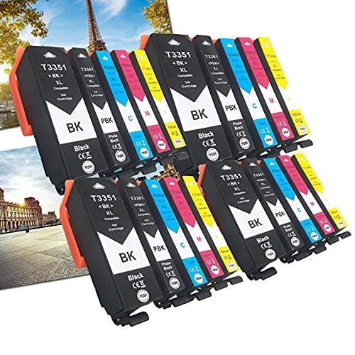 OGOUGUAN 33 XL - Cartuchos de tinta compatibles con Epson Expression Premium XP-530 XP-540 XP-630 XP-635 XP-640 XP-645 XP-830 XP-900 (20 paquetes)