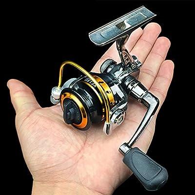 EDTara Spinning Fishing Reels Mini Portable Right/Left Swap Handed Fly Fishing Reel Super Light Fishing Raft Wheel by Zantec