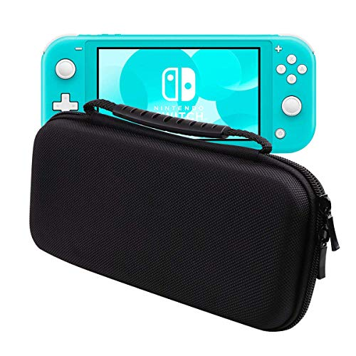HAO HONG Nintendo Switch Lite Travel Carrying Case Holds 8 Video Game Cards, 2 Joy-Con Controllers | Water, Scratch, Dust and Shock Proof Protective Storage(New Version Black)