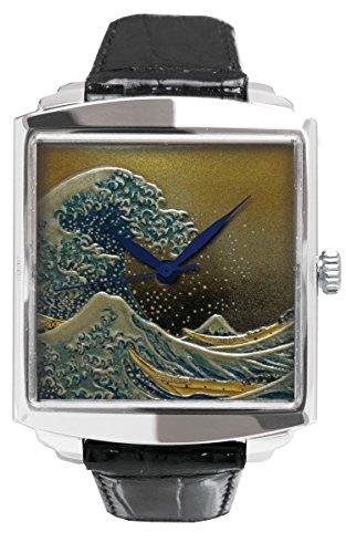 Urushi Makie orologio Hokusai sotto l' onda di Kanagawa -