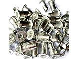 Veda - Surtido de remaches, 100 unidades, aluminio roscado, 25de M4, 25de M5, 25de M6, 25de M8