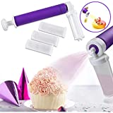 Manual Airbrush for Decorating Cakes - Manual Cake Airbrush Pump,DIY Baking,Cake Coloring Baking Cake Spray Tube Baking Tool by Hand,Cupcakes and Desserts Decorating Cakes Kit Cake Airbrush Pump