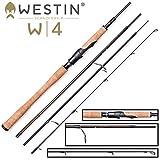 Westin W4 Light Spin L 2,40m 3-15g Spinnrute, Ultra Light Rute für Barsche, Angelrute zum Barschangeln, Barschrute zum Spinnangeln