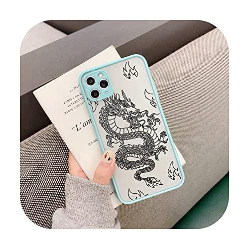 Dragon Animal Pattern Phone Case for iPhone 12 11 Pro XS Max X 7 XR SE20 8 6Plus Hard Transparent Cover Matte Bag-Style 10-for iPhone 11