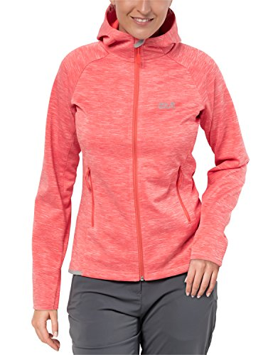 Jack Wolfskin Damen LA CUMBRE Trail Fleecejacke, hot Coral, XL