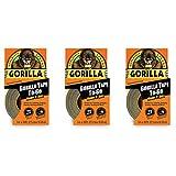Gorilla 3044401 テープ ハンディロール 1パック ブラック 3個セット