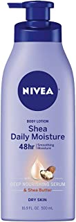 NIVEA Shea Daily Moisture Body Lotion - 48 Hour Moisture For Dry Skin - 16.9 oz. Pump Bottle