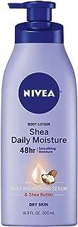 NIVEA Shea Daily Moisture Body Lotion - 48 Hour Moisture For Dry Skin - 16.9 fl. oz. Pump Bottle