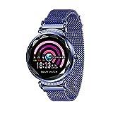 Smartwatch, Zeitanzeige, Ges&heitsüberwachung, Fernfotografie, Sportmodus, Informationserinnerung, kompatibel mit Android & iOS (Farbe: Blau)
