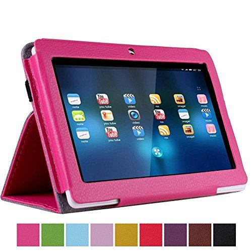 NSSTAR - Custodia protettiva in pelle PU sottile da 7', con supporto per Afunta Q88, Alldaymall A88X 7'', NeuTab N7 Pro, Chromo Inc, 7', AGPtek, Alldaymall Q88, Axis, Chromo, Dragon Touch A13 Q88, Y88, Fast, per tablet da 7' Touch, Fortezza, Koc aso M752WH/M752SL/M752WH/M752BL 7 Inch Tablet, Kocaso M752 7' Android 4.0 All Winner A13, Matricom Tab Nero, Matricom G-Tab Nero CX2, Megafeis M700, Nationite QX7, NeuTab N7, Noria Jr, Noria oria 4 Vani, Portoghese mondo, Riin, Simbans 7 pollici Tablet PC, ZTO N1 plus, Zeepad 7.0 (rosa caldo)