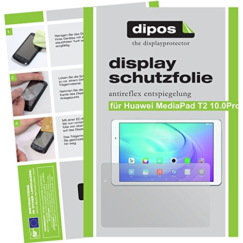 dipos–Protector de Pantalla compatible con Huawei MediaPad T210.0Pro (2Unidades, antirreflectante), Mate
