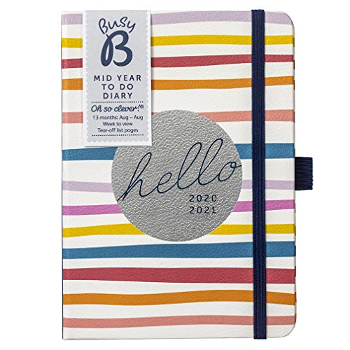 BusyB Mid-Year To Do Diary Terminkalender One Size 2021 Stripe