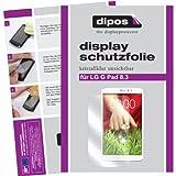 dipos I 2X Schutzfolie klar kompatibel mit LG G Pad 8.3 Folie Bildschirmschutzfolie