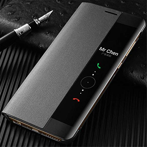 Für Huawei p30 p20 pro Mate 20 lite smart Window View automatische Schlaf weck Leder flip case Abdeckung Premium pu Leder magnetische flip Design case