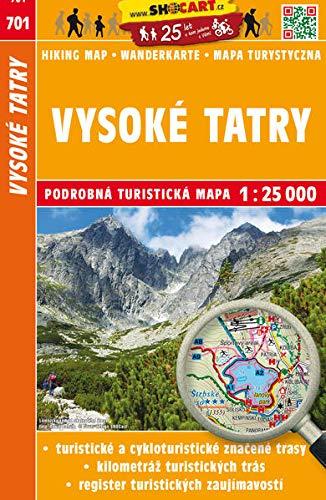 Vysoké Tatry / Hohe Tatra (Wander - Radkarte 1:25.000) (SHOCart Wander - Radkarte 1:25.000 Slowakei, Band 701)