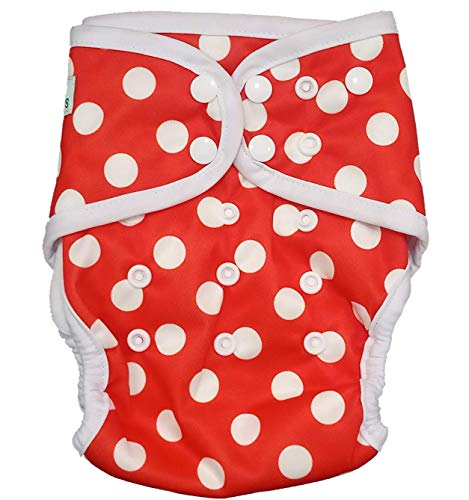 InfiniT AIO Overnight Cloth Diaper(One Size Fits 5-15 Kgs) (Halka Polka)