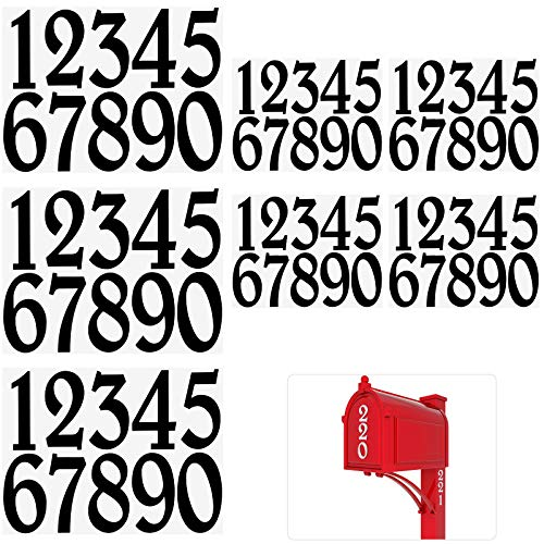 Vinyl Mailbox Number Decal, Black Self Adhesive Address Numbers 0-9 Stickers, Waterproof and Fadeless Mailbox Sign for Bin, Window, Signs, Door, Cars (70 Pieces, 2 Inch and 3 Inch)