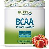 INSTANT BCAA PULVER VEGAN - Hochdosierte Aminosäuren BCAAs - L-Leucin L-Isoleucin L-Valin 2:1:1 Aminosäure - Nutri-Plus - Geschmack Pfirsich-Eistee -