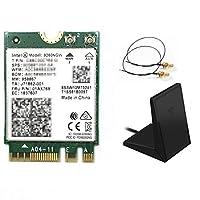 Intel (インテル) Wirelss-AC9260NGW 802.11ac (1,733Mbps) MU-MIMO & Bluetooth5 日本語取扱説明書つき (20cm, フォールディングアンテナ(マグネットつき))