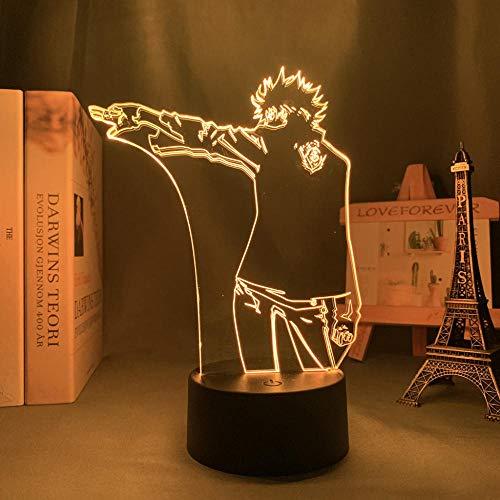 Air Gear Anime 3D ilusión noche lámpara decoración del hogar acrílico LED luz de Navidad regalo lámparas (16 colores con mando a distancia)