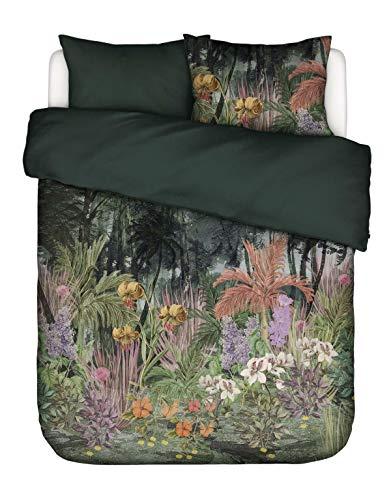 ESSENZA Bettwäsche Igone Waldlandschaft Baumwollsatin Grün, 155x220 + 1 X 80x80 cm