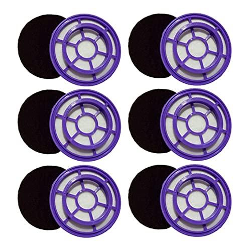 Componentes Accesorios de aspiradora HEPA Filtro aplicable Apto para PUPPYOO D-526 WP526 Repuestos de aspiradora,6PCS Piezas de aspiradora (Color : Purple)