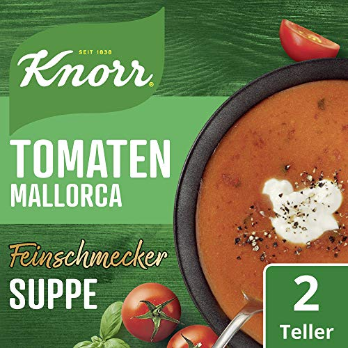 Knorr Feinschmecker Tomatencreme Suppe Mallorca, 2 Teller