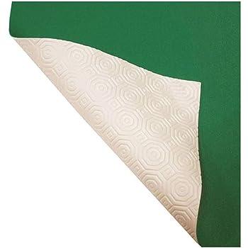 Russo Tessuti Mollettone Panno Verde Gommato Tovaglia Tavolo da Gioco Double Face 50c140 cm