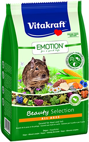 Vitakraft Alleinfutter für Degus, Gemüse, Luzerne, Blüten TriVita-Complex, Emotion Beauty Selection All Ages (5 x 600g)