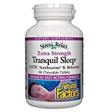 Stress-Relax Tranquil Sleep Extra Strength Natural Factors 60 Tabs