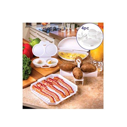 4 pc Set de iniciación de microondas huevos Bacon patatas Baker ...