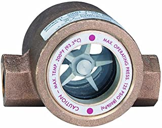 Dwyer Midwest Series SFI-300 Sight Flow Indicator, Double Window, Bronze Body, ABS Impeller, 3/4