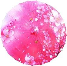 33-Inch Chinese/Japanese Style Handmade Parasol Vintage Paper Umbrella, Pink Sakura