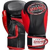 FARABI Guantes de boxeo para niños y niños, guantes de entrenamiento de Sparring (6 onzas)
