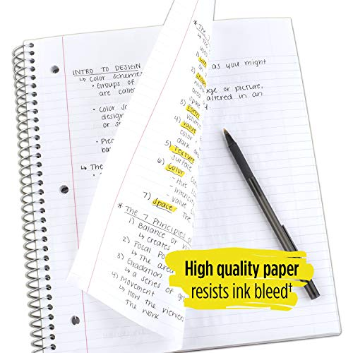 """Five Star Spiral Notebook, 1 Subject, College Ruled Paper, 100 Sheets, 11"""" x 8-1/2"""", School, Wired, Green (72055) Photo #5"""
