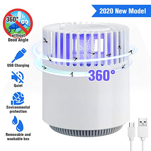 Tvird Elektrischer Insektenvernichter UV Insektenvernichter Insektenfalle Mückenlampe Mückenfalle Insektenkiller 360° Moskito Killer Fliegenfalle für Wohnzimmer Schlafzimmer Umweltfreundlich