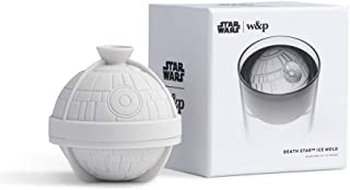 W&P WPSW-ICE-DSTAR Limited Star Wars Collection Sphere Silicone Ice Mold, Death Star, Round Cocktail Whiskey Drink Ice Maker