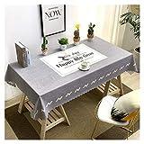 GUOCU PVC Mantel Antimanchas Impermeable Fáciles de Limpiar Decoración del Hogar Rectangular Mantel de Mesa para Comedor Fiesta Cocina Gris Elegante 120 * 160