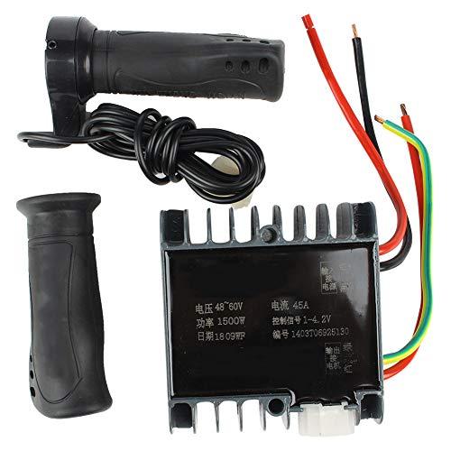 Shoplice Controlador -48-60V 1500W Motor Caja de Controlador Cepillado para Triciclo de...