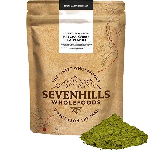 Sevenhills Wholefoods Polvere Di Tè Verde Matcha Cerimoniale Giapponese Crudo Bio 200g