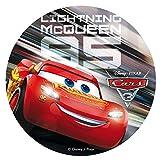 Dekora - Decoracion Tartas de Cumpleaños Infantiles en Disco de Oblea de Cars Pixar - 20 cm