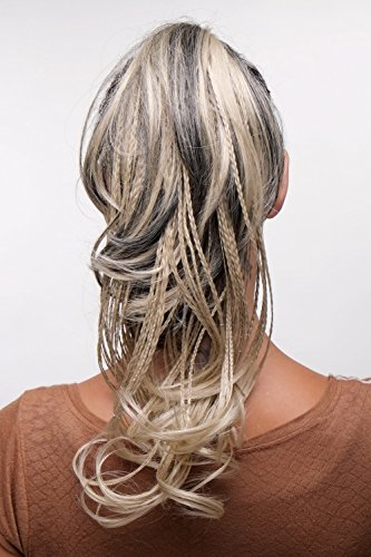 WIG ME UP - Postiche queue de cheval natte avec pince-papillon brun blond clair mèches tressées T301-2/22TT22