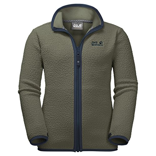 JACK WOLFSKIN Fleecejacke K BLACK BEAR FLEECE, woodland green, 164, 1606941-5052164