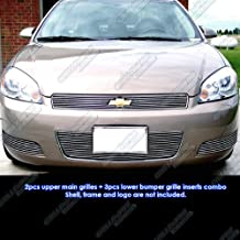 APS Compatible with 2006-2013 Chevy Impala LT LS Billet Grille Grill Insert Combo C67756A