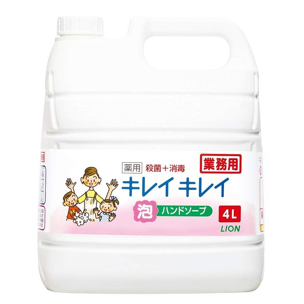 地殻凍った簡略化する【業務用 大容量】キレイキレイ 薬用 泡ハンドソープ シトラスフルーティの香り 4L(医薬部外品)