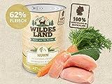 Wildes Land Hundefutter Nassfutter Huhn 400g (12 x 400g)