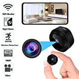 Mini Spy Hidden Camera WiFi Wireless Camera 1080P HD Remotely...